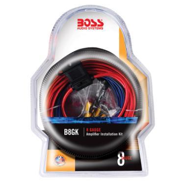 marine electrical audio wiring kit boss audio b8gk 8 gauge amplifier installation kit at ... #7