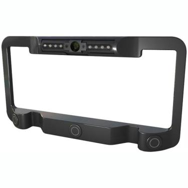 Power Acoustik LP-2CSB Universal License Plate Frame with Built-In ...