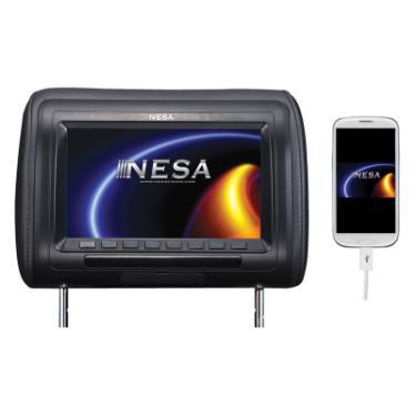 nesa npm 783hd 7 preloaded universal headrest monitor with built in hdmi usb mobile hi. Black Bedroom Furniture Sets. Home Design Ideas