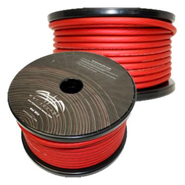 Wet sounds ww 4 red 125 red frosted 4 gauge amp wire 125 for Wire size for 125 amp service
