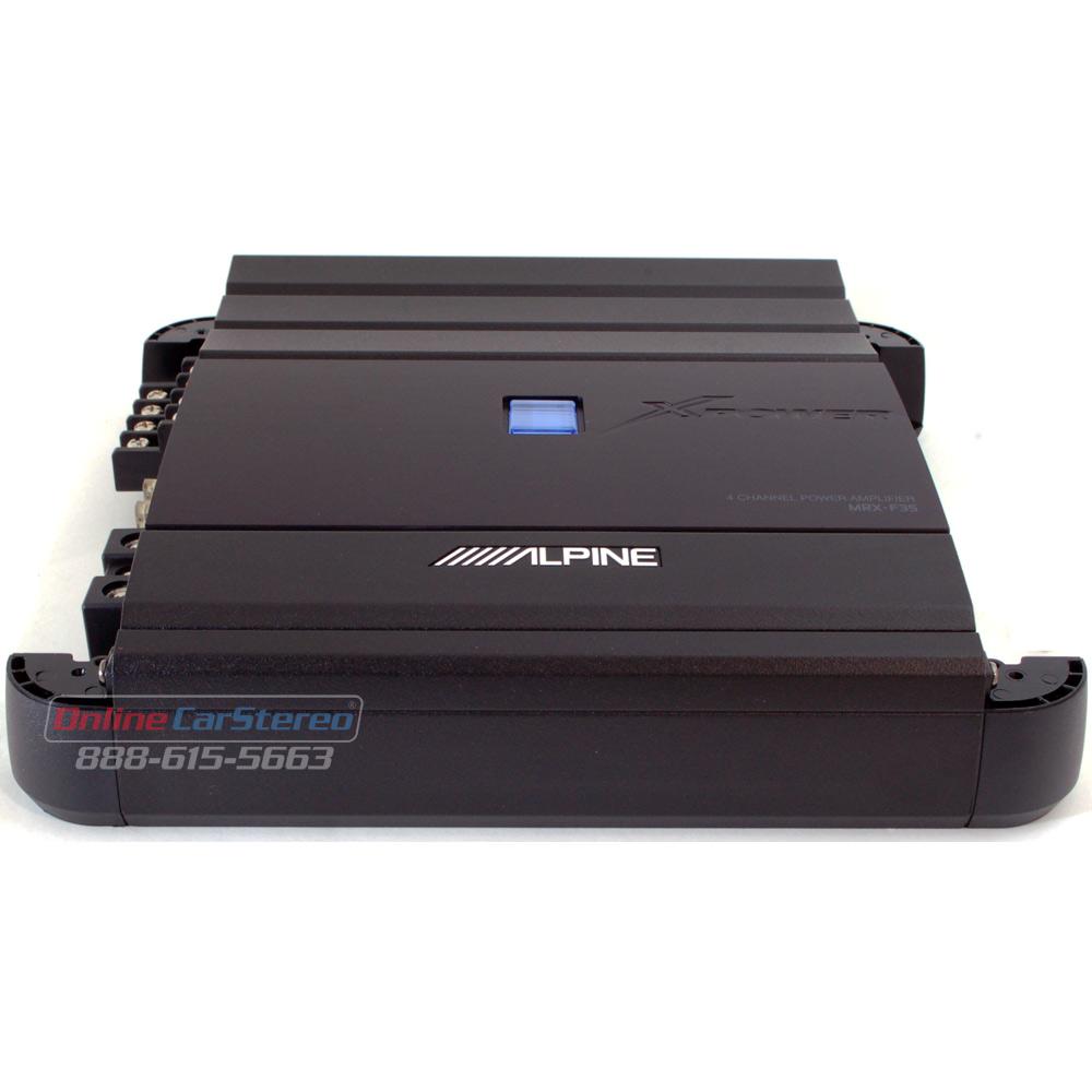 Power Acoustik Car Stereo Alpine MRX-F35 500W 4-Channel Class D Car Audio Amplifier at ...