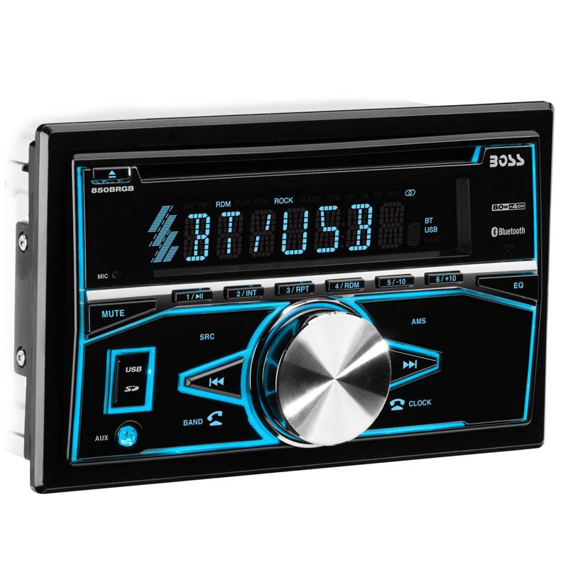 Boss Bv9538b Double Din Bluetooth Dvd Car Stereo Receiver: Boss Audio 850BRGB Double DIN Bluetooth In-Dash CD/AM/FM