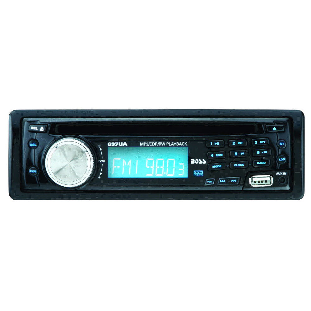 Best Extended Car Warranty >> Boss Audio 637UA Single-DIN In-Dash MP3-Compatible AM/FM Receiver with USB and Front Panel AUX ...