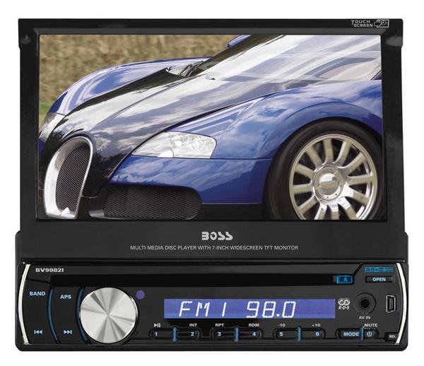 BOSS Audio BV9982I In Dash Single Din Motorized Detachable Touchscreen