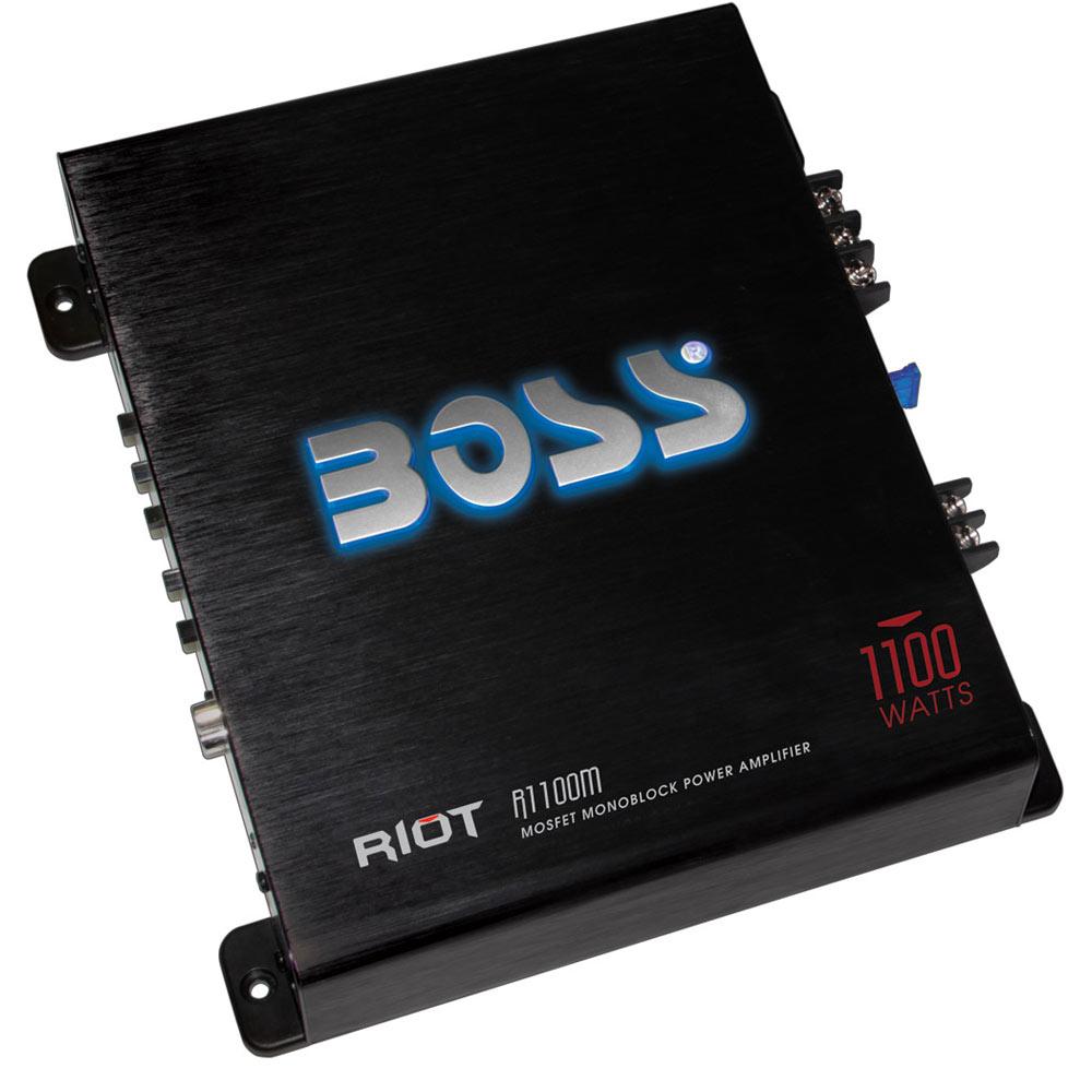 boss audio r1100m riot 1100 watt monoblock class a b 2 to 8 ohm rh onlinecarstereo com Boss Audio Systems Boss Audio Logo