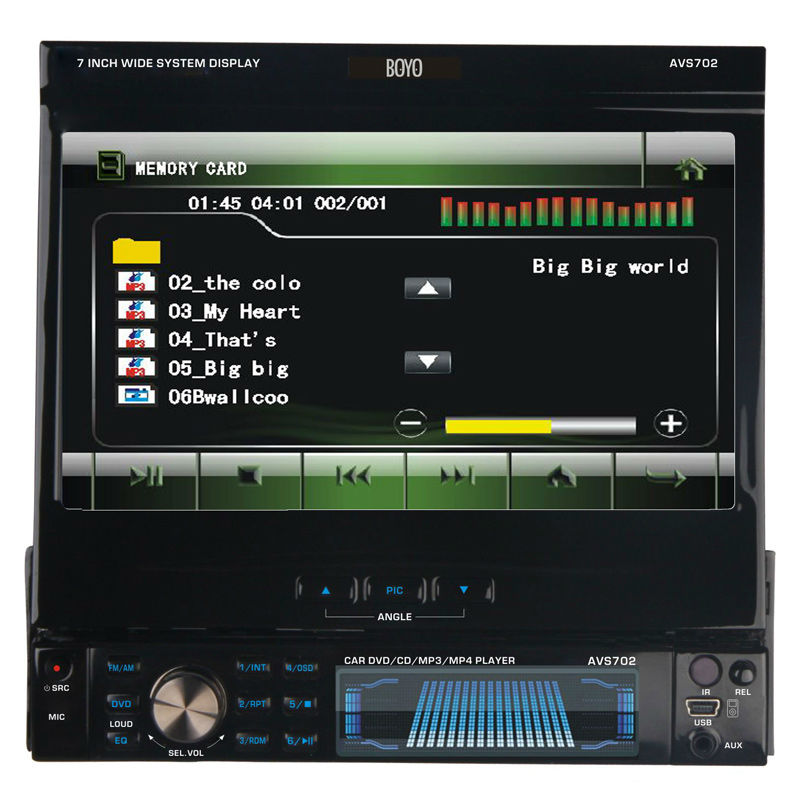 Buy BOYO Car Multimedia - BOYO - AVS702 - 7\&quot; Single DIN Multimedia Digital Panel Touch Panel