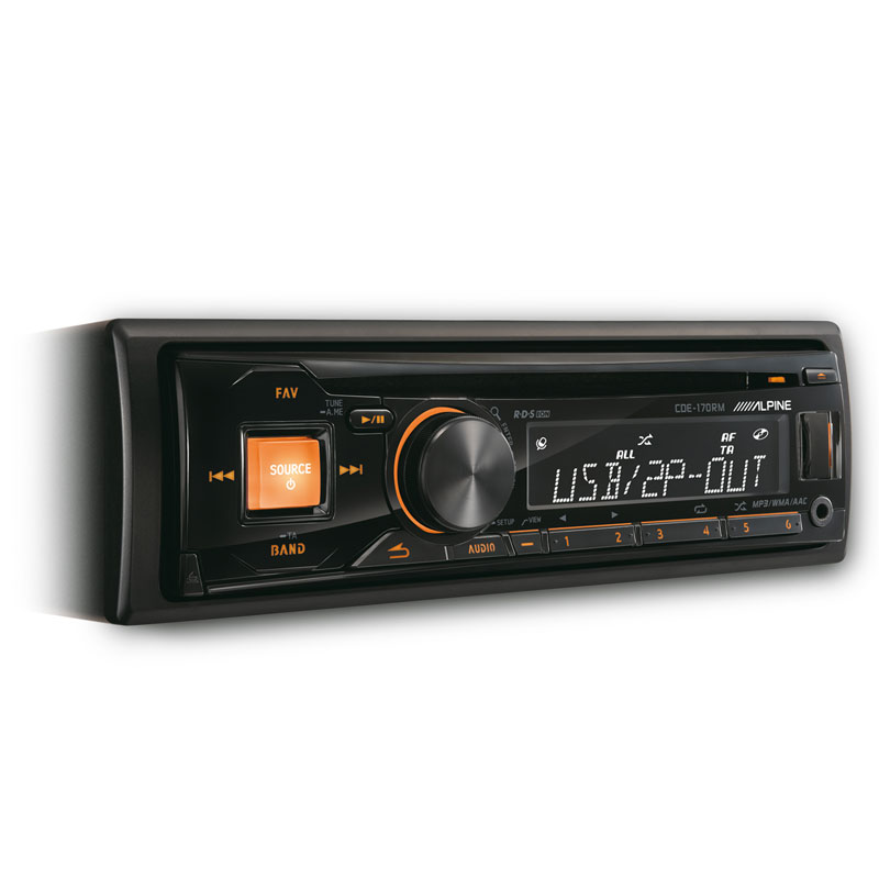 Alpine CDE-170 1 DIN 200 Watts X 4 Channels In-Dash CD/AM
