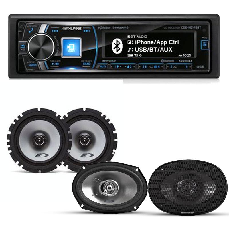 Alpine CDE-HD149BT-PKG Single-DIN Bluetooth Car Stereo W