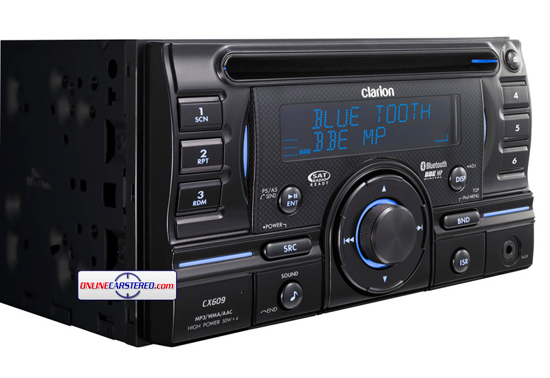 Clarion Car Stereo: Clarion CX609 2-DIN CD/USB/MP3/WMA/AAC Bluetooth Receiver