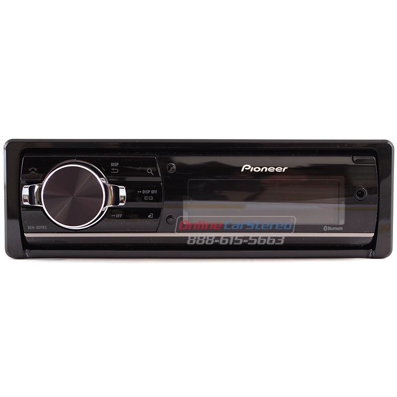 pioneer deh 80prs bluetooth enabled single din in dash cd. Black Bedroom Furniture Sets. Home Design Ideas