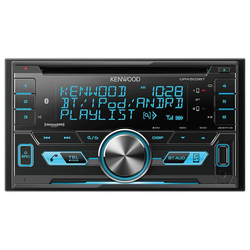 Kenwood DPX503BT Double DIN Bluetooth In Dash CD AM FM