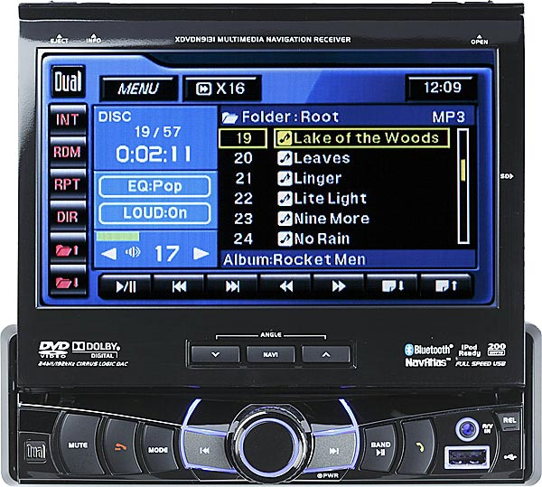 Flip out touch screen radio for cars