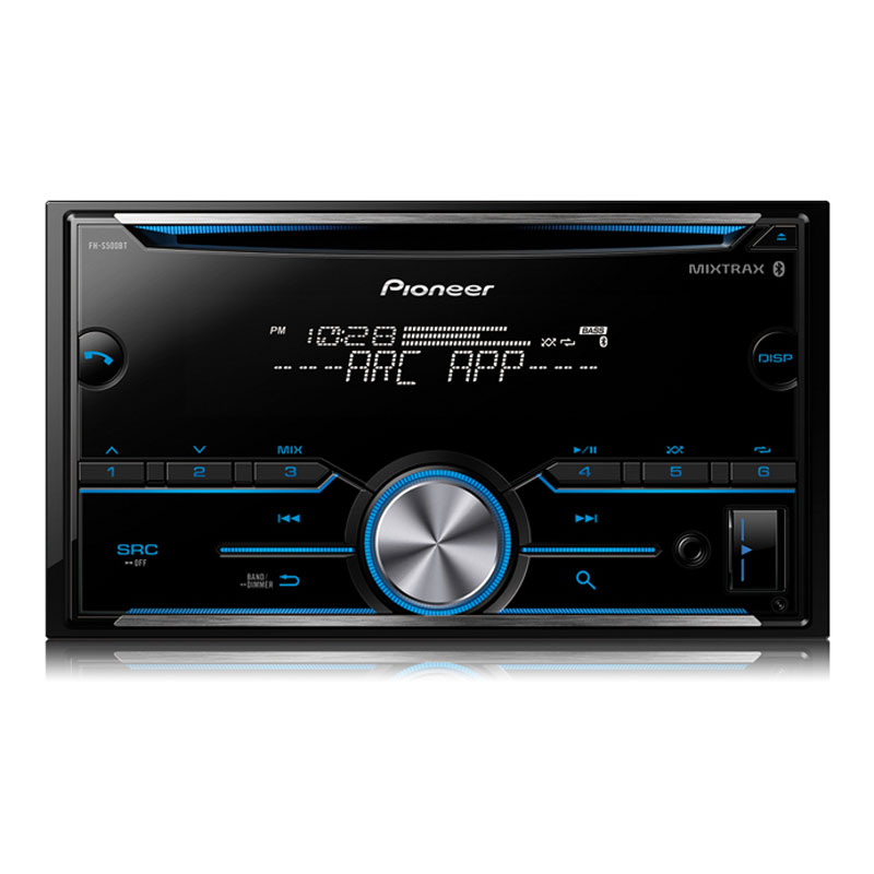 pioneer fh s500bt double din cd receiver with improved pioneer arc app compatibility mixtrax. Black Bedroom Furniture Sets. Home Design Ideas