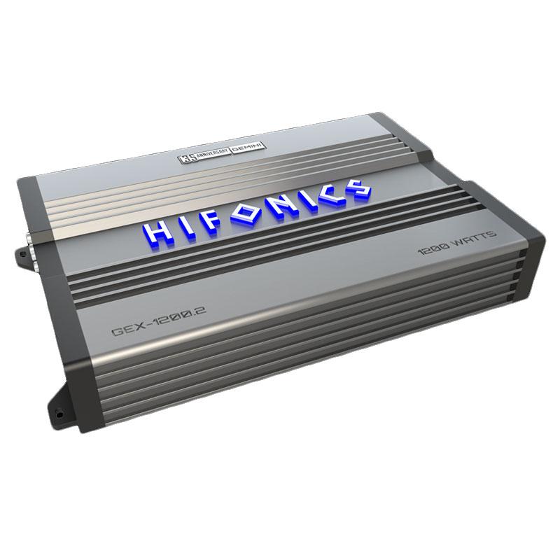 Hifonics GEX1200.2 Gemini Elite 1200 Watts, 2 Channel, Class A/B Car Amplifier at ...