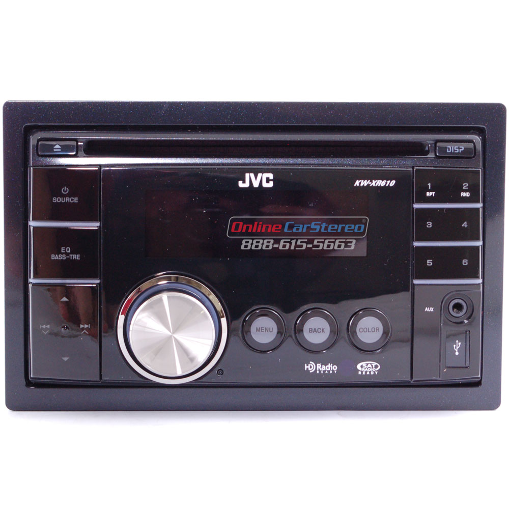 JVC KW-XR610 Double-DIN In-Dash CD Receiver With IPod