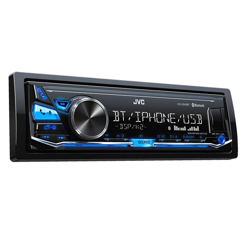 JVC KD-X240BT Single DIN In-Dash Digital Media Car Stereo