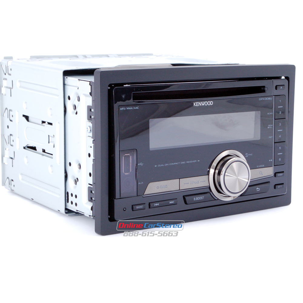 Kenwood DPX308U 2DIN In-Dash CD/MP3 Receiver with Front USB Port and 3.5mm  Aux Input at Onlinecarstereo.com
