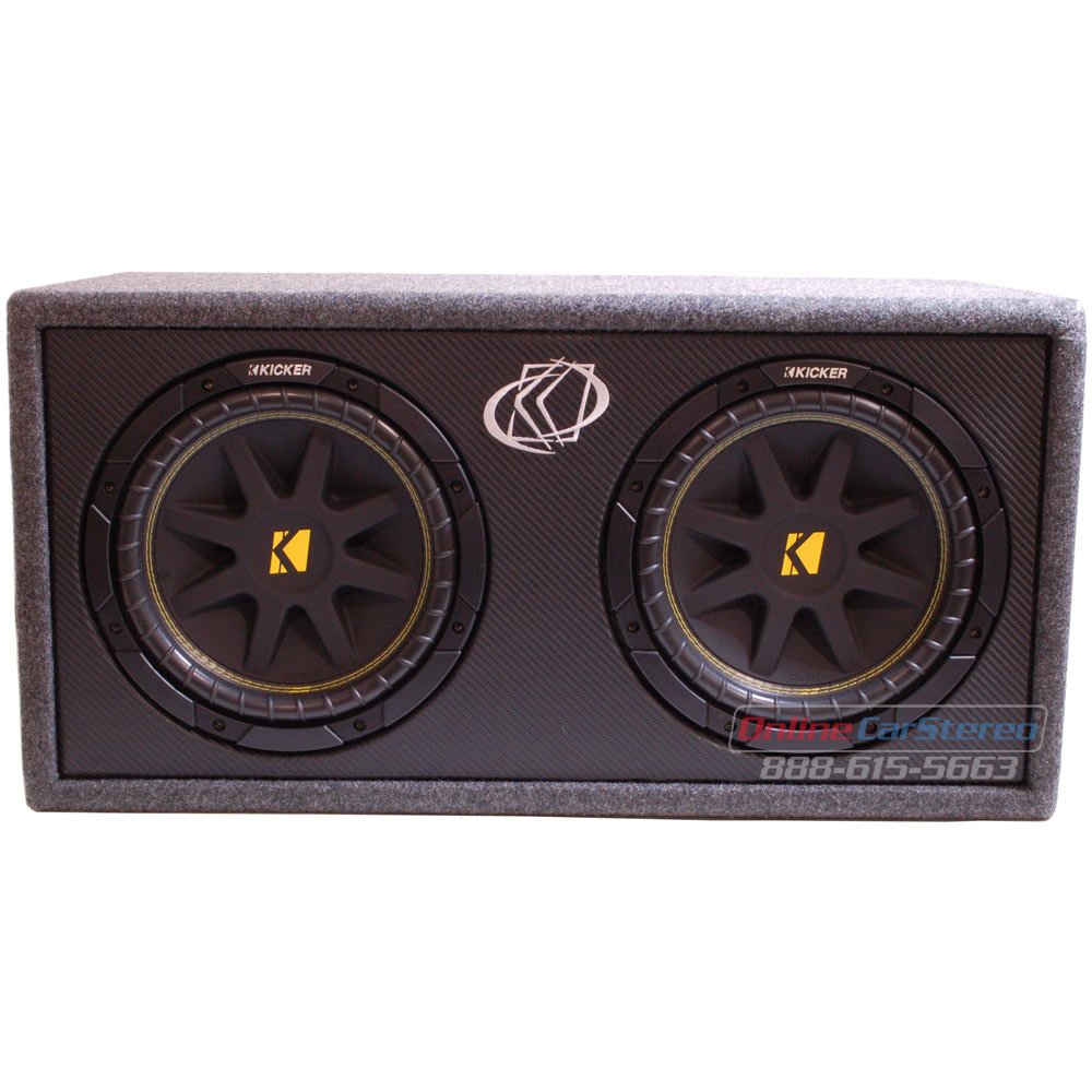 Kicker DC124 (10DC124) Subwoofer Enclosure Loaded with Dual 10-Inch ...