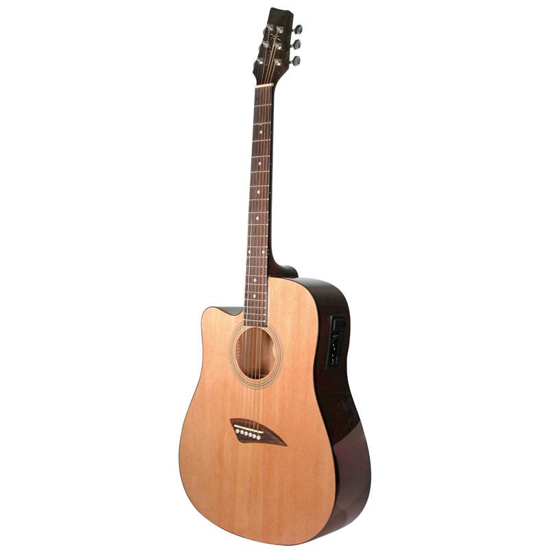 kona k1el left handed acoustic electric dreadnought cutaway guitar in natural high gloss finish. Black Bedroom Furniture Sets. Home Design Ideas
