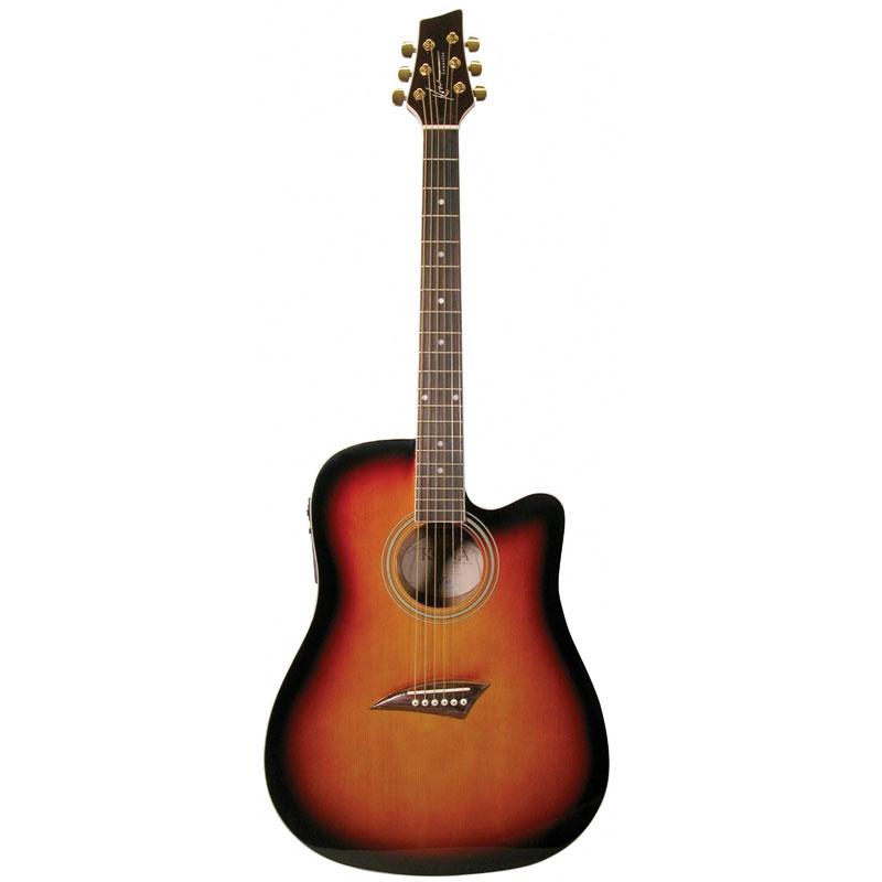 kona k1etsb acoustic electric dreadnought cutaway guitar in tobacco sunburst gloss finish at. Black Bedroom Furniture Sets. Home Design Ideas