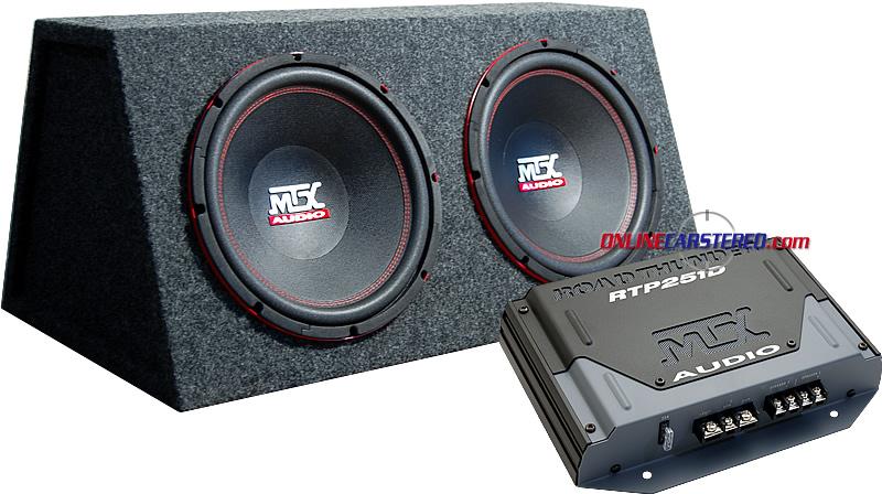 TNE212D Dual Car Subwoofer Enclosure MTX Audio