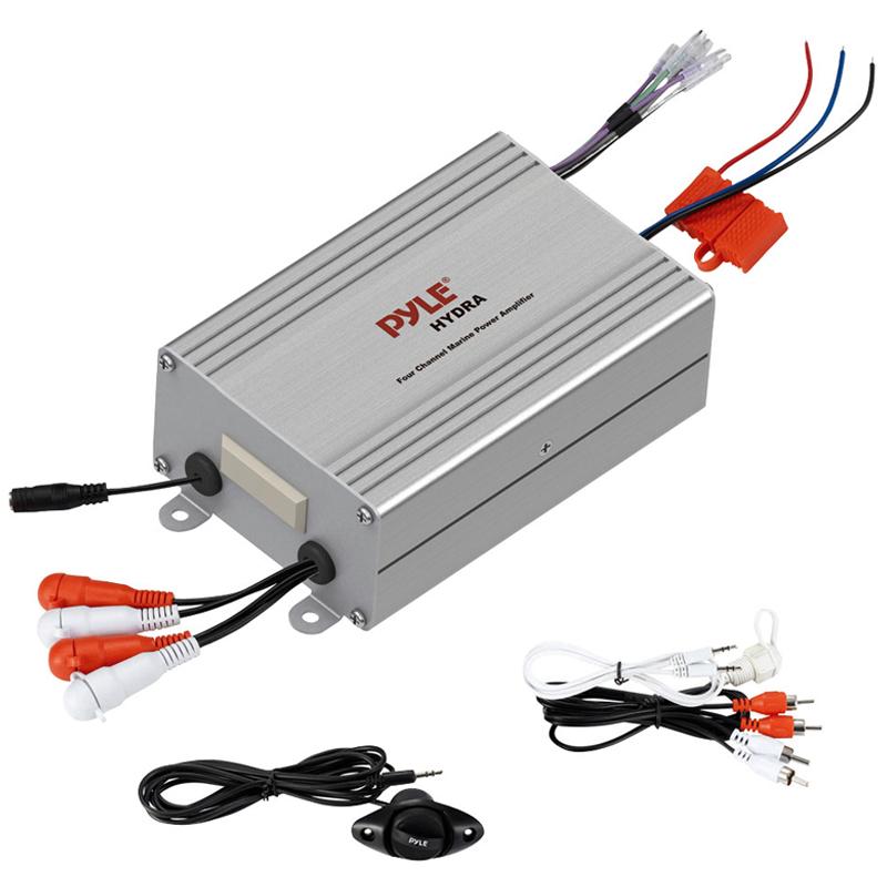 Pyle PLMRMP4A 4 Channel Waterproof MP3 / IPod Amplifier At