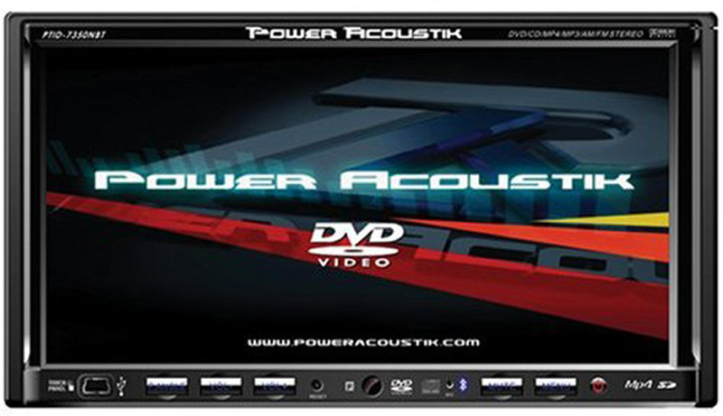 power acoustik ptid 7350nr exact double din in dash dvd. Black Bedroom Furniture Sets. Home Design Ideas