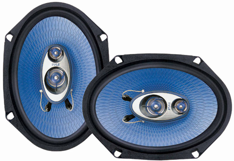 Pyle PL683BL 6'' X 8'' 360W 3-Way Speakers At