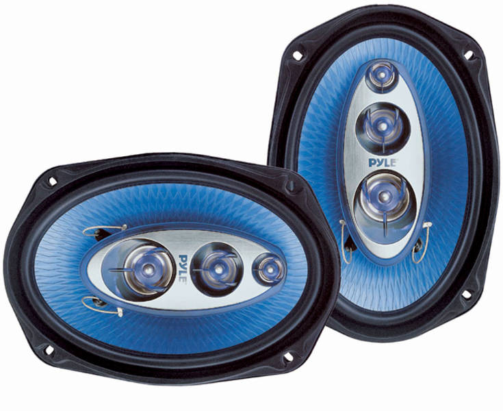 Pyle PL6984BL 6'' X 9'' 400W Four-Way Speakers At