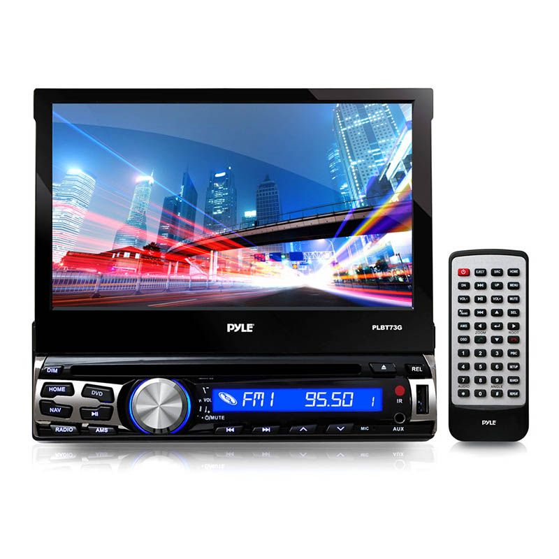 pyle plbt73g 7 inch bluetooth and gps navigation headunit receiver hover to zoom