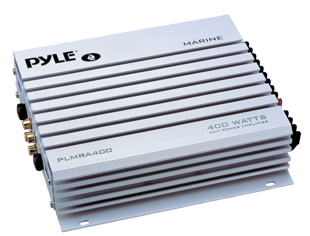 Pyle PLMRA400 400W 4-Channel Marine Amplifier At