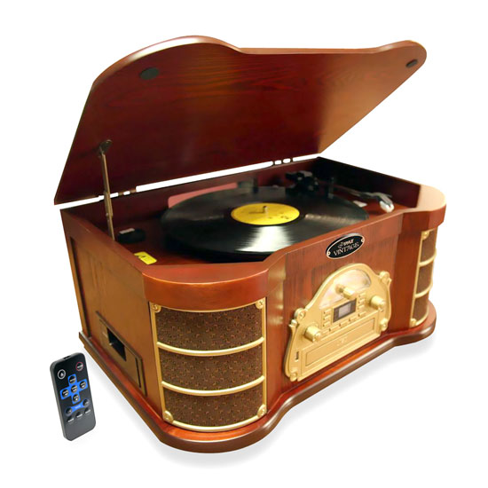 Pyle ptcd54ub bluetooth vintage style turntable with am fm for Car turntable plans