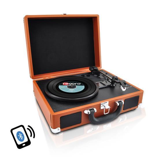Pyle Pvttbt6br Bluetooth Classic Vinyl Record Player