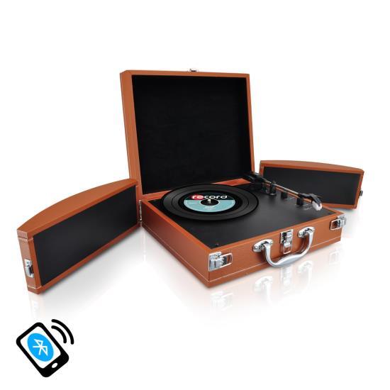 Pyle Pvttbt8br Bluetooth Classic Vinyl Record Player