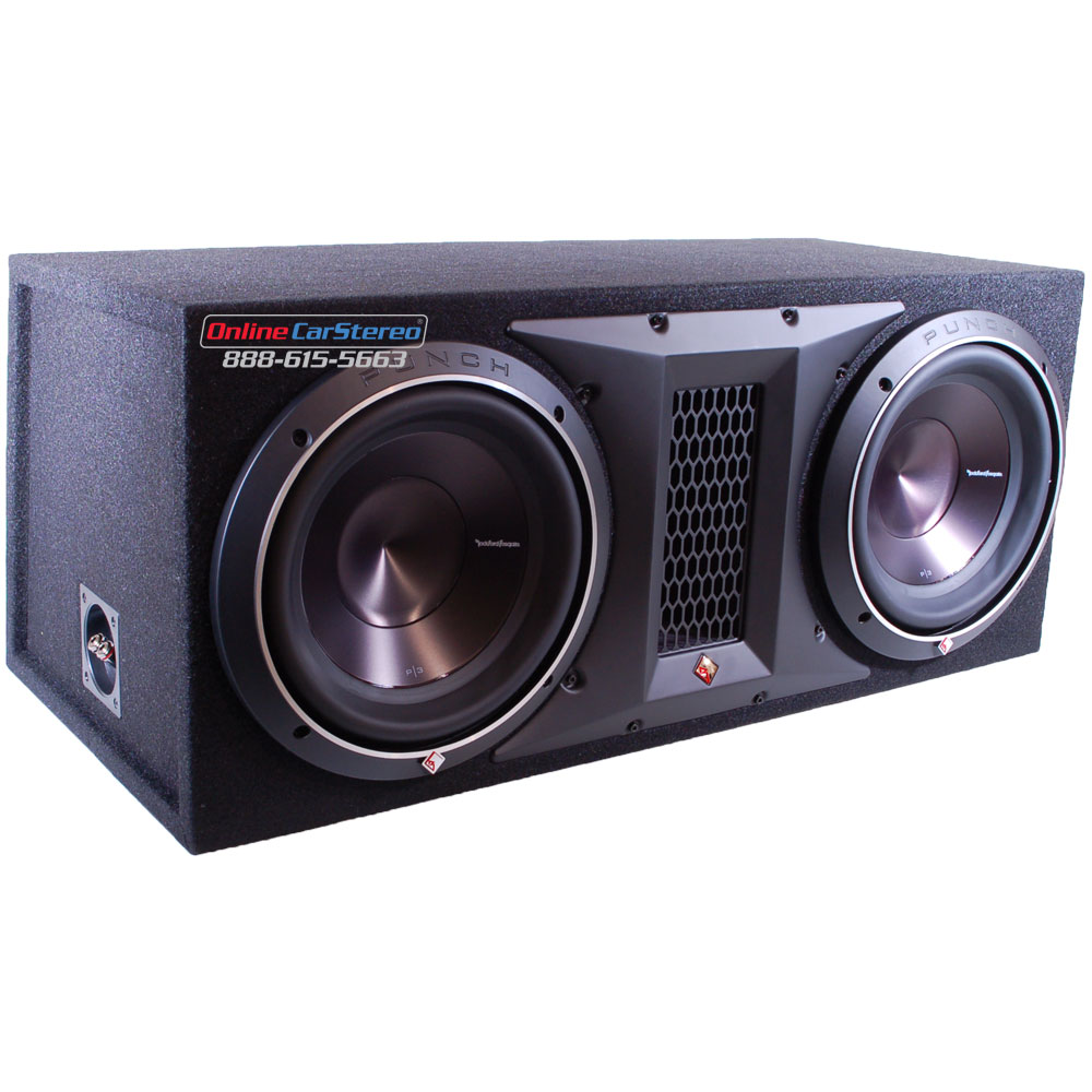 Rockford Fosgate P3-2X12 Enclosed Car Subwoofers at Onlinecarstereo ...