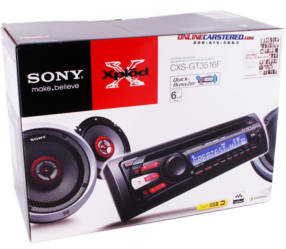 sony cxs gt3516f car stereo package with single din in. Black Bedroom Furniture Sets. Home Design Ideas