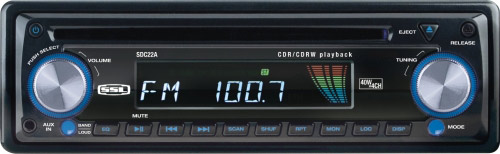 Buy SoundStorm In-dash CD Players - SoundStorm - SDC22A - In-Dash CD Receiver With Front Aux Input