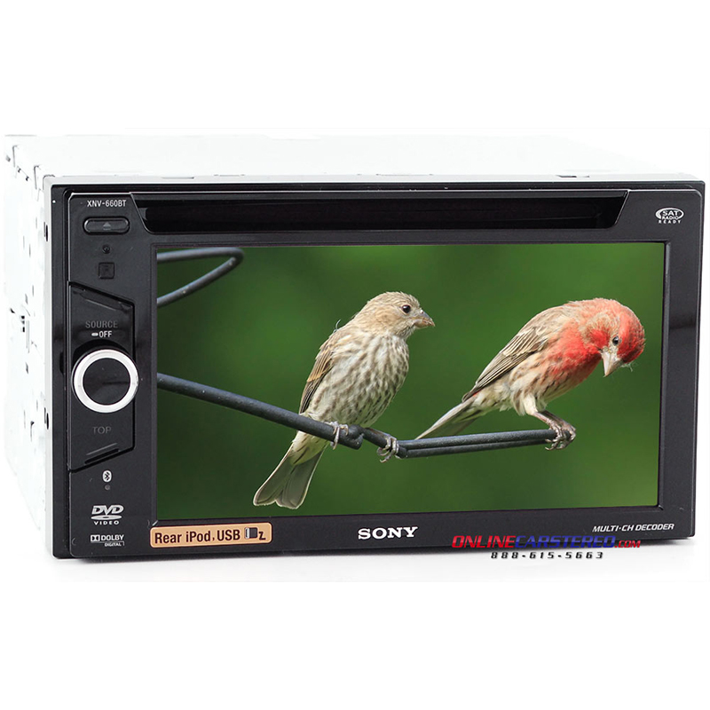 sony xnv 660bt bluetooth enabled in dash navigation multimedia command station with 6 1 quot touch