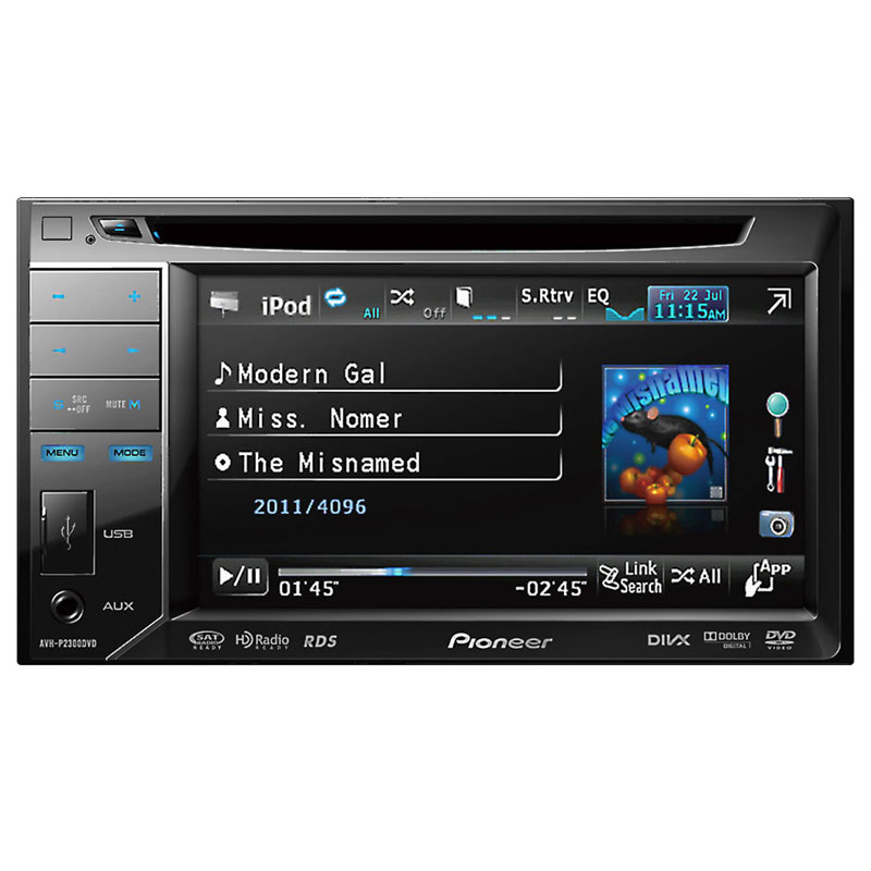 pioneer avh 2300nex multimedia dvd receiver with 7 wvga display apple carplay android auto. Black Bedroom Furniture Sets. Home Design Ideas