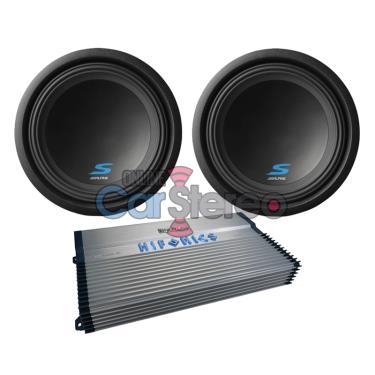 Hifonics BXX2000.1D2000WMonoAmplifierTwoS-W12D2121800WMaxCarSubwooferBassPackage