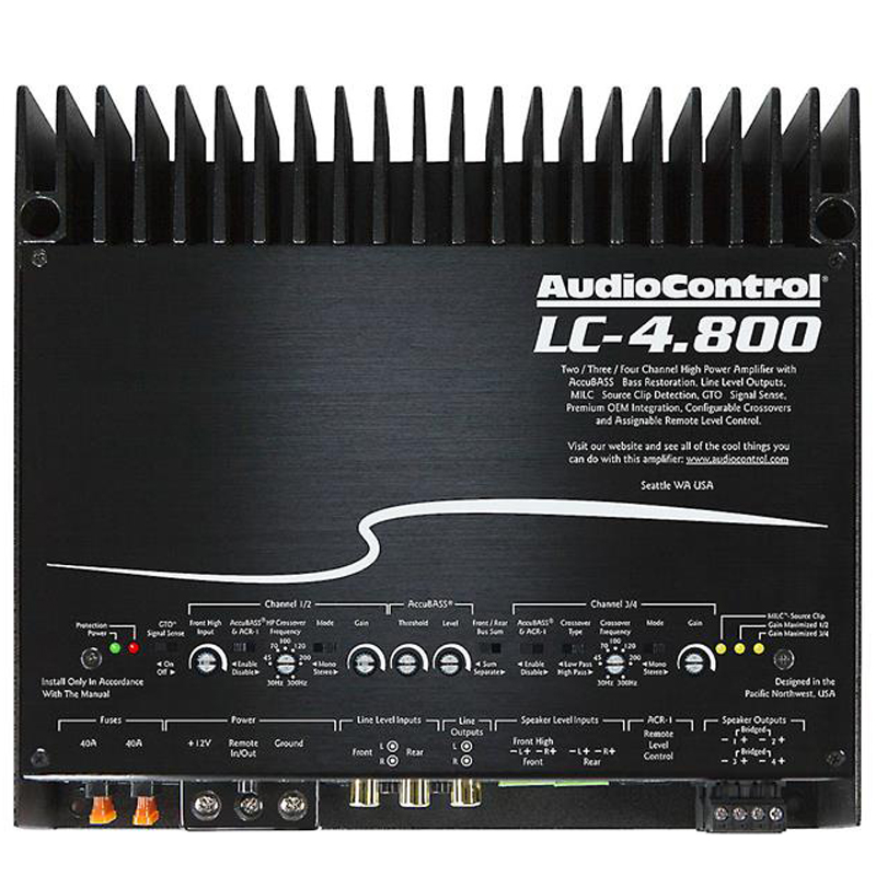 audiocontrol lc high power 4 3 2 1 channel amplifier with factory integration features at. Black Bedroom Furniture Sets. Home Design Ideas