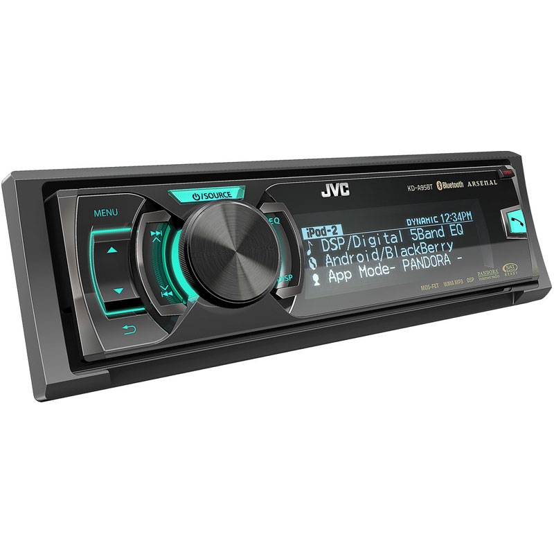 JVC Arsenal KD-A95BT Car CD Receiver Display and Controls