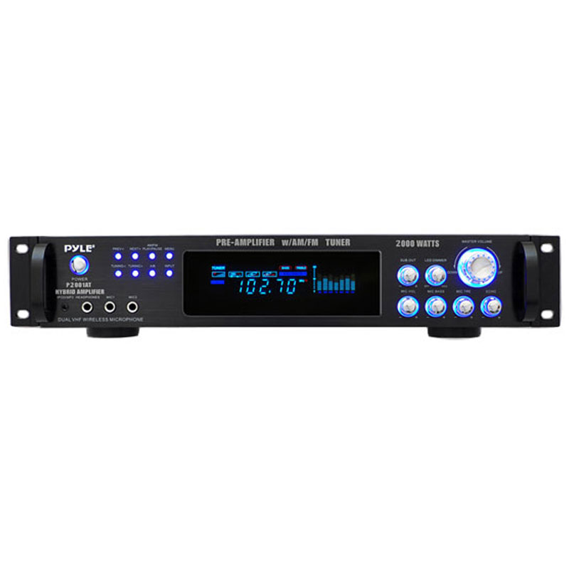 Pyle P2001at 2 000 Watt Hybrid Hybrid Home Stereo Receiver