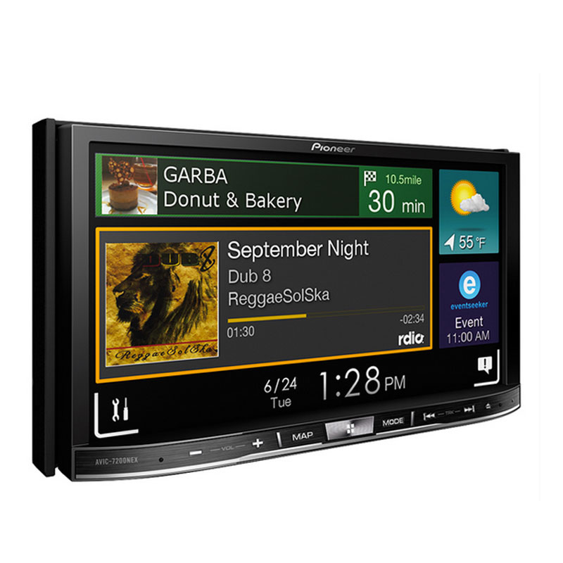 pioneer avic nex double din  dash navigation  touchscreen dvdcd  navigation