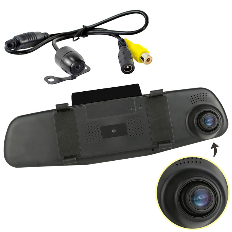 Pyle PLCMDVR47 DVR Dash Cam & Backup Camera Kit, Car Video
