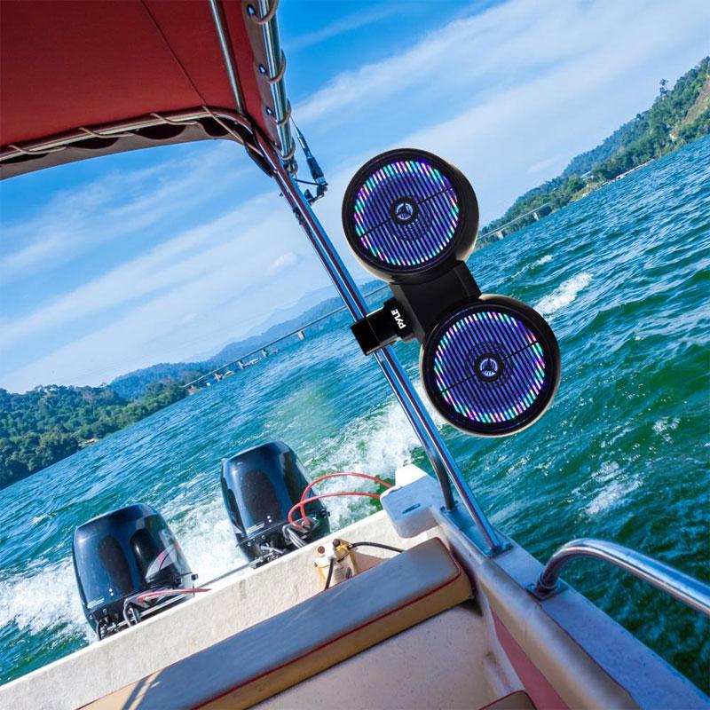 Pyle Plmrwb852leb Dual Marine Tower Speakers Wakeboard