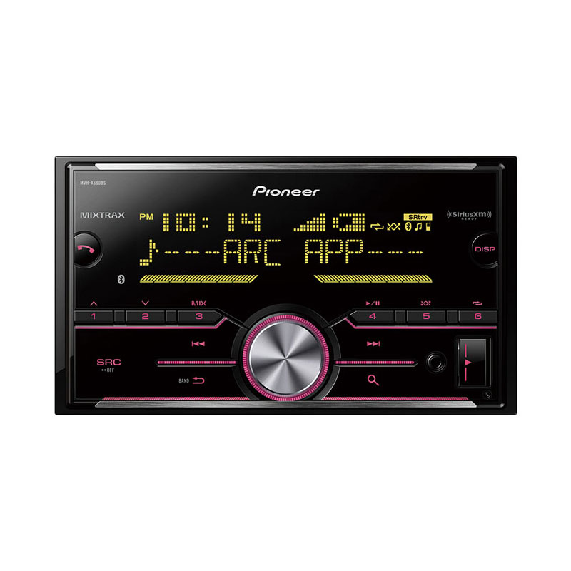 Pioneer MVH-X690BS Double DIN Mechless Bluetooth In-Dash