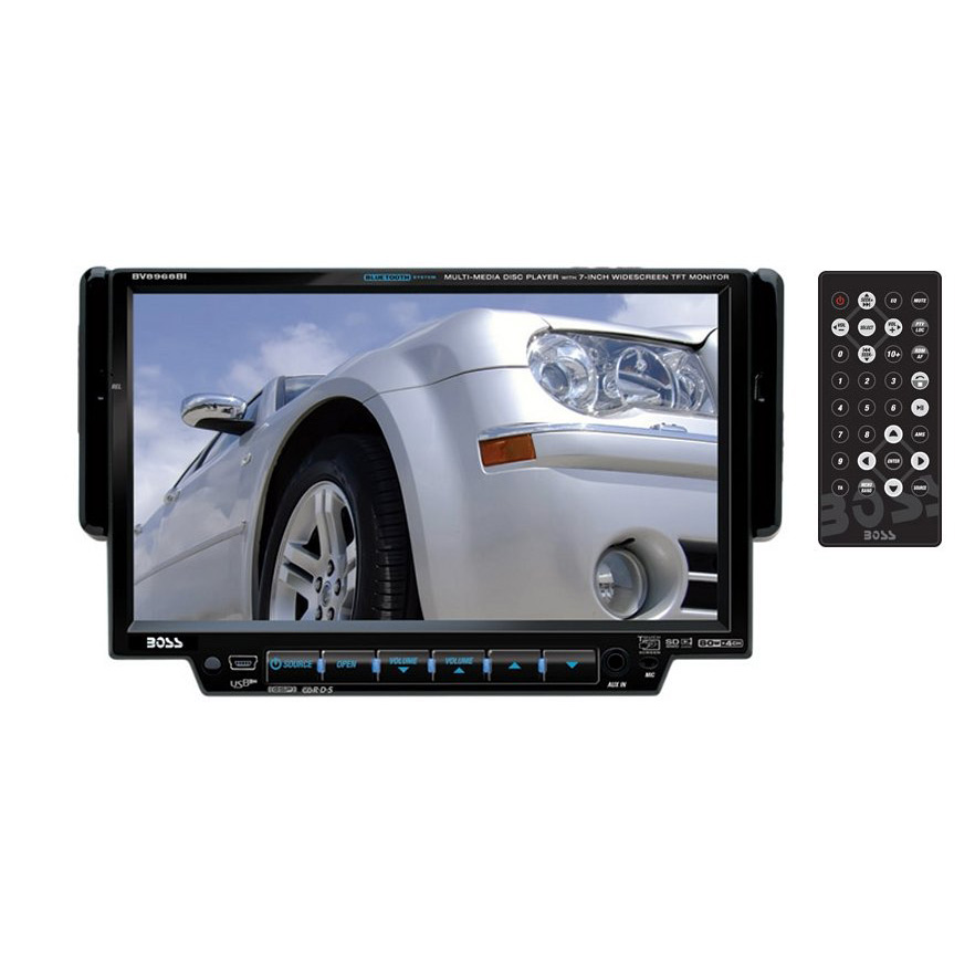 Boss Bv9538b Double Din Bluetooth Dvd Car Stereo Receiver: Boss Audio BV8968BI Bluetooth Enabled Double-DIN In-Dash