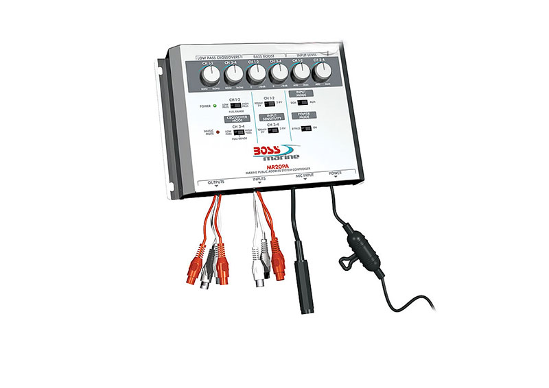 boss audio mr20pa marine public address system controller