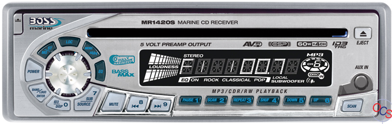 boss audio mr1420s  cd receiver  silver  at